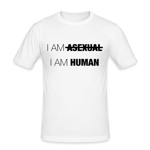 I AM ASEXUAL - I AM HUMAN - Men's Slim Fit T-Shirt