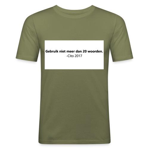 Gebruik niet meer dan 20 woorden - slim fit T-shirt