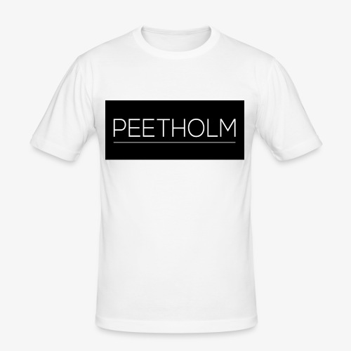 Peetholm - Black logo - Herre Slim Fit T-Shirt
