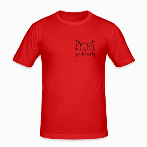 Jon Kennedy Drumkit Logo & Name - Men's Slim Fit T-Shirt