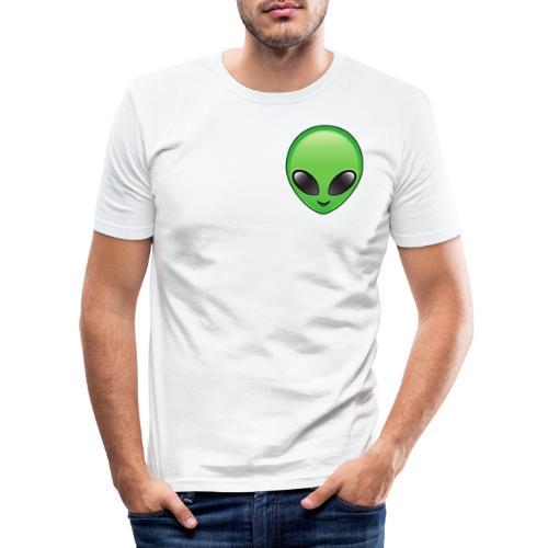 Alien face - Slim Fit T-shirt herr
