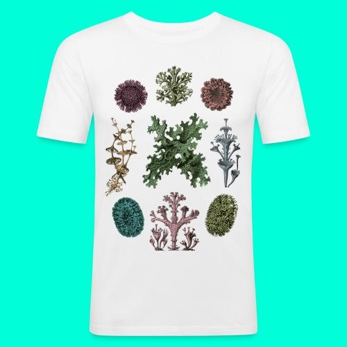 Lichen_tisha_svart_merged - Slim Fit T-shirt herr