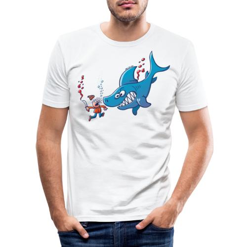 Sharks are Furious, Stop Finning! - Men's Slim Fit T-Shirt