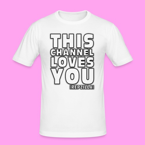 This Channel Loves You - Men's Slim Fit T-Shirt