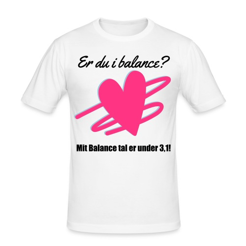 I Balance Design - Herre Slim Fit T-Shirt