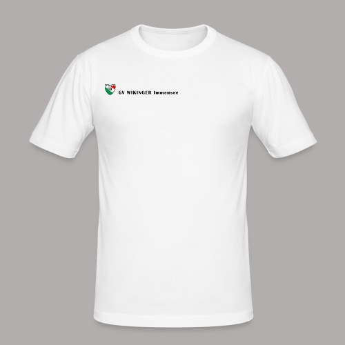 Wappenbanner, schwarz(vorne)Zirkel,schwarz(hinten) - Männer Slim Fit T-Shirt