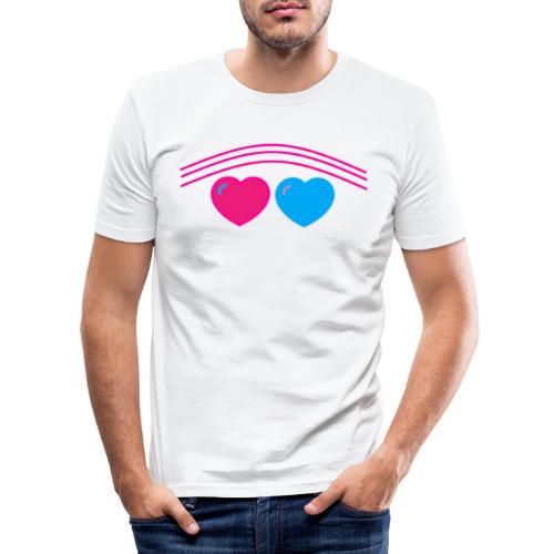 Das Design mit Herz - Männer Slim Fit T-Shirt