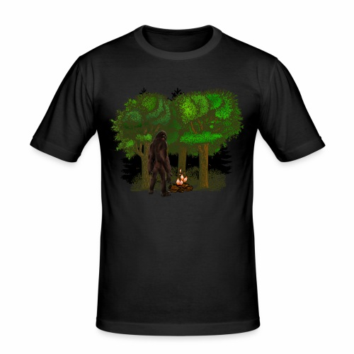 Bigfoot Campfire Forest - Men's Slim Fit T-Shirt