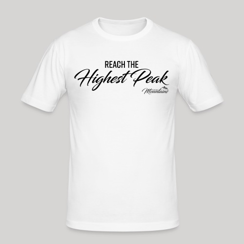 Highest peak - Männer Slim Fit T-Shirt