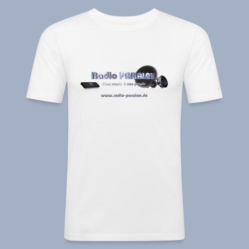 Radio PARALAX Facebook-Logo mit Webadresse - Männer Slim Fit T-Shirt