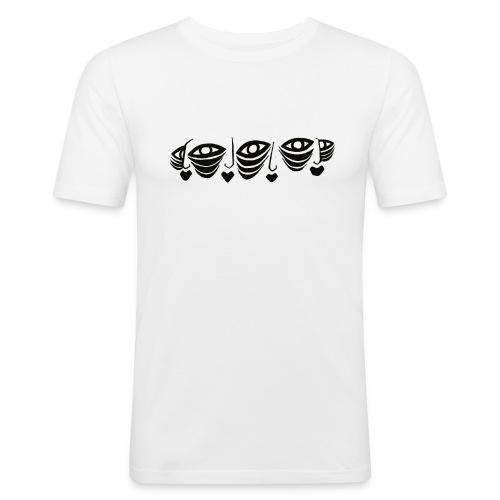 Faces Connected Illustration Version 2 - Men's Slim Fit T-Shirt