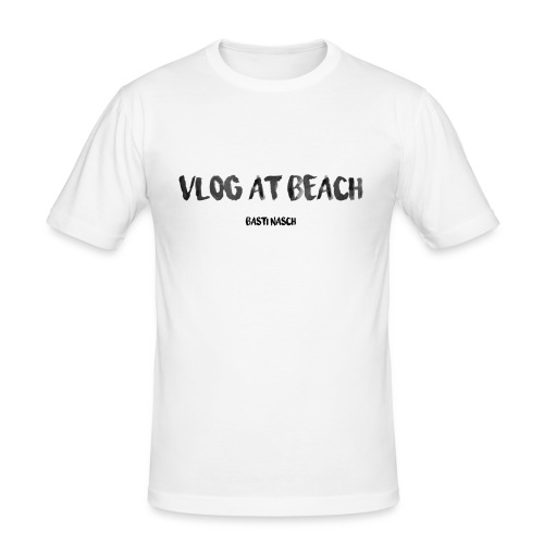 vlog at beach - Männer Slim Fit T-Shirt