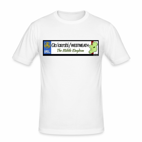WESTMEATH, IRELAND: licence plate tag style decal - Men's Slim Fit T-Shirt
