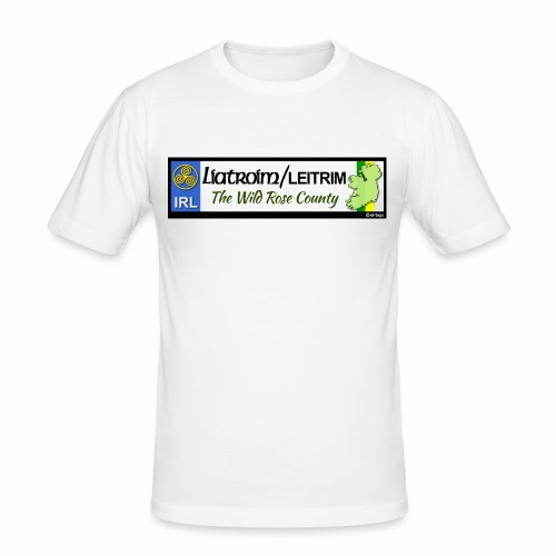 LEITRIM, IRELAND: licence plate tag style decal eu - Men's Slim Fit T-Shirt