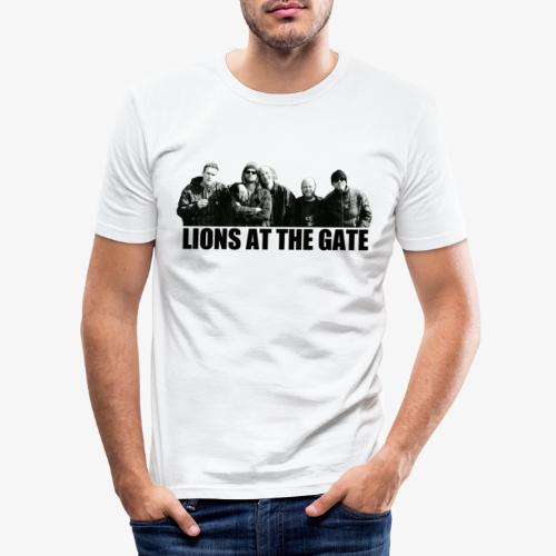 LIONS AT THE GATE SHIRT (WHITE) - Mannen slim fit T-shirt