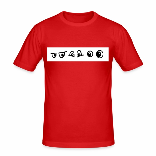 graffiti caracter augen - Männer Slim Fit T-Shirt
