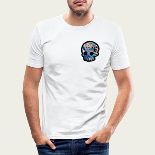 Skull craneo reflejante - Camiseta ajustada hombre
