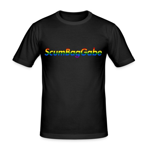 ScumBagGabe Multi Logo XL - Men's Slim Fit T-Shirt