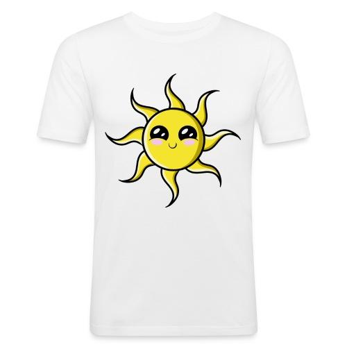 Soleil Kawaii ! - T-shirt près du corps Homme