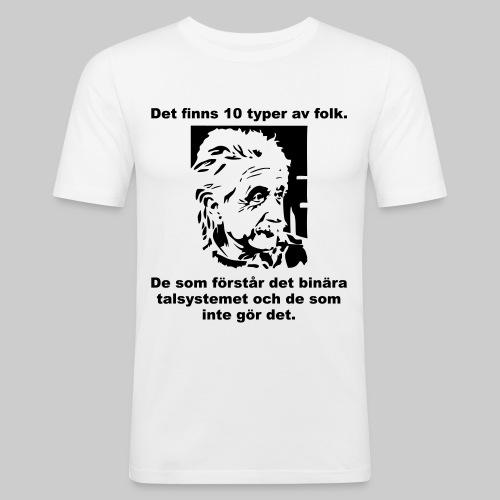 Det finns 10 Typer - Slim Fit T-shirt herr