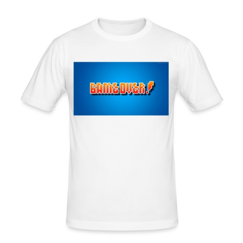 janyololp07 Game Over - Männer Slim Fit T-Shirt