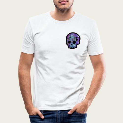 Skull craneo metalico - Camiseta ajustada hombre