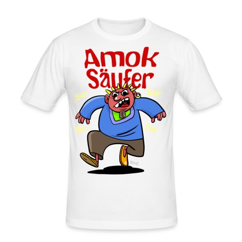 Amoksaeufer - Männer Slim Fit T-Shirt