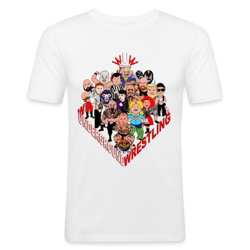 comics-wrestler - Männer Slim Fit T-Shirt