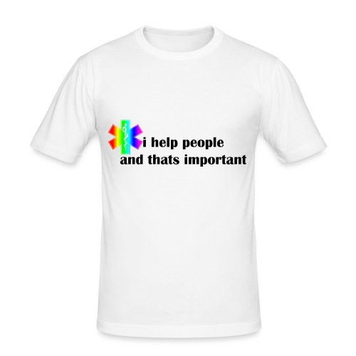 i help people - Mannen slim fit T-shirt