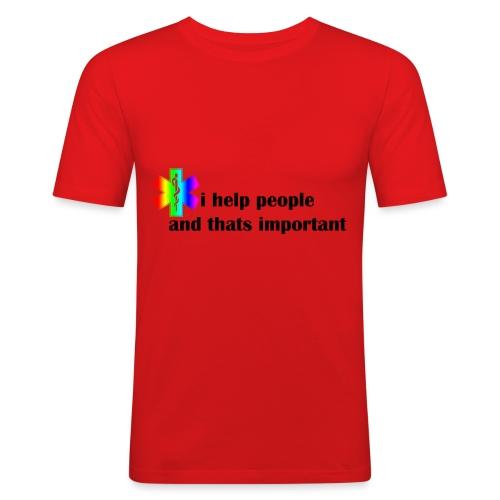 i help people - Mannen slim fit T-shirt