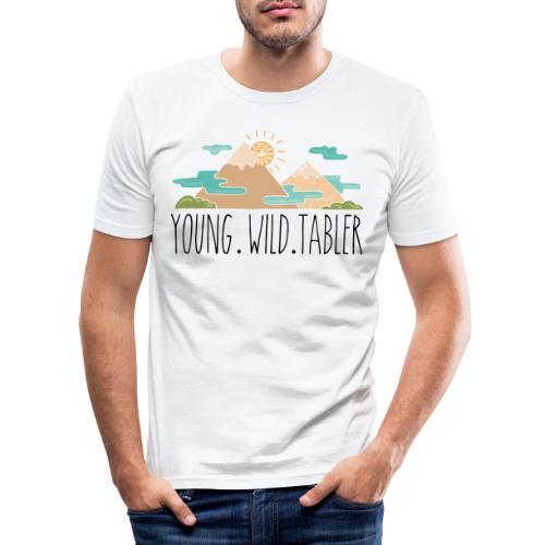 young.wild.tabler - Männer Slim Fit T-Shirt
