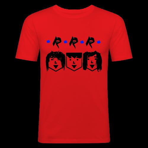 RRR - Heads - Männer Slim Fit T-Shirt