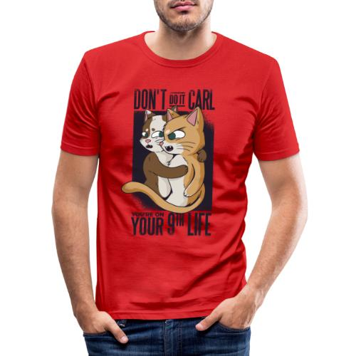 Vexels cat Meme Shirt - Männer Slim Fit T-Shirt