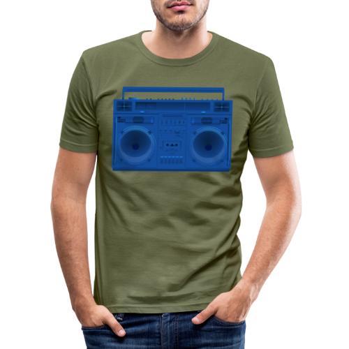 Bestes Stereo blau Design online - Männer Slim Fit T-Shirt