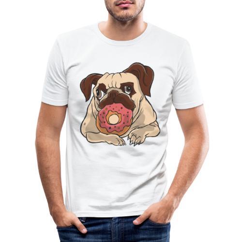 Beste Hund Hunde donut Mops - Männer Slim Fit T-Shirt