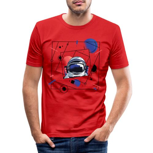 Beste Astronaut Weltraum Designs - Männer Slim Fit T-Shirt
