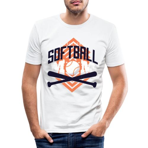 Bestes Softball Mamma Design - Männer Slim Fit T-Shirt