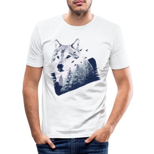 Bestes Wolfswald Design - Männer Slim Fit T-Shirt