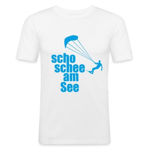 scho schee am See Surfer 01 kite surfer - Männer Slim Fit T-Shirt