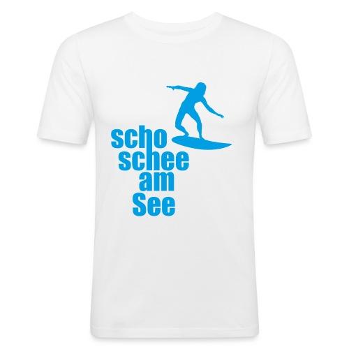 scho schee am See Surfer 04 - Männer Slim Fit T-Shirt