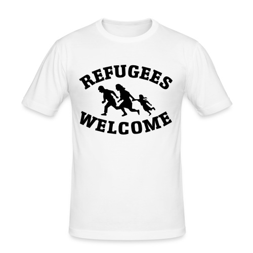 Refugees Welcome - T-shirt près du corps Homme