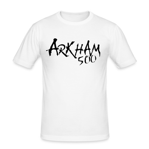 arkham sort spreadshirt png - Slim Fit T-skjorte for menn