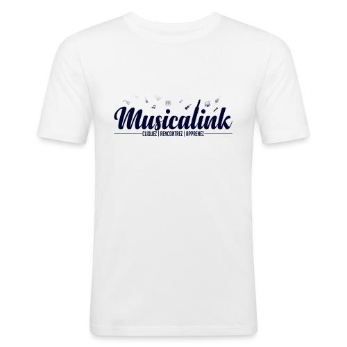 Musicalink blue - T-shirt près du corps Homme