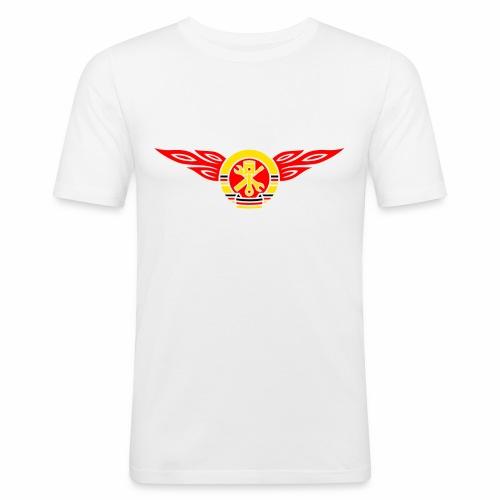 Car flames crest 3c - Men's Slim Fit T-Shirt