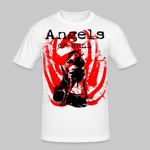 2reborn ANGELS OF HELL sexy Girls bl - Männer Slim Fit T-Shirt