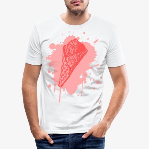 2reborn Pink Eat ICE CREAM Eis Ice Eiscreme red - Männer Slim Fit T-Shirt