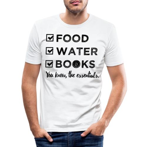 0261 Books, Water & Food - You understand? - Men's Slim Fit T-Shirt