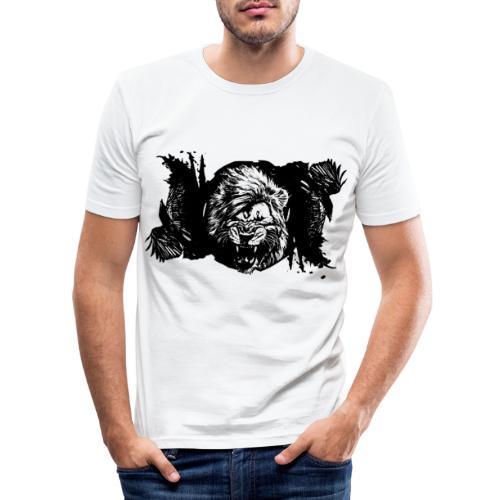 Raven & lion - T-shirt près du corps Homme