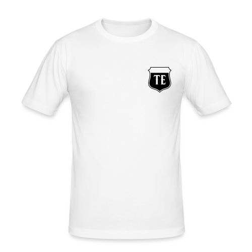 White Logo - Men's Slim Fit T-Shirt