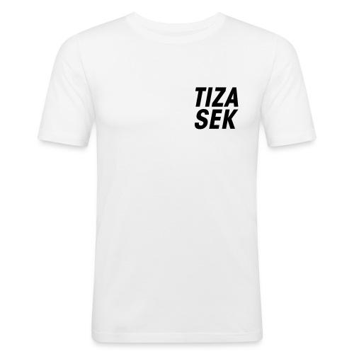 Lettré + logo noir - T-shirt près du corps Homme